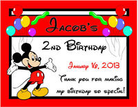 15 Mickey Mouse Birthday Party Favors Magnets