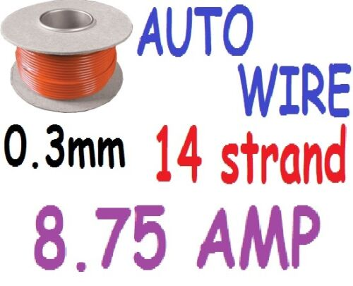8.75amp van car NEW 1M RED 14 strand 0.3 wire motorbike wiring etc