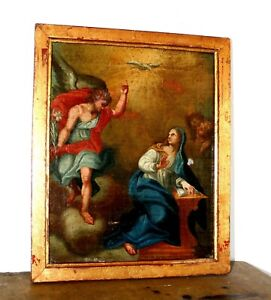 Oil-on-canvas-painting-the-annunciation-early-eighteenth-century
