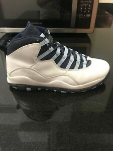 quality design 468c8 34709 Details about NIKE AIR JORDAN 10 RETRO White/Obsidian-Ice Blue-V Red  310805-141 Size 9 USED