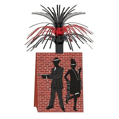 Gangster Themed Table Centerpiece 14'' - 1920's Themed Party Decorations