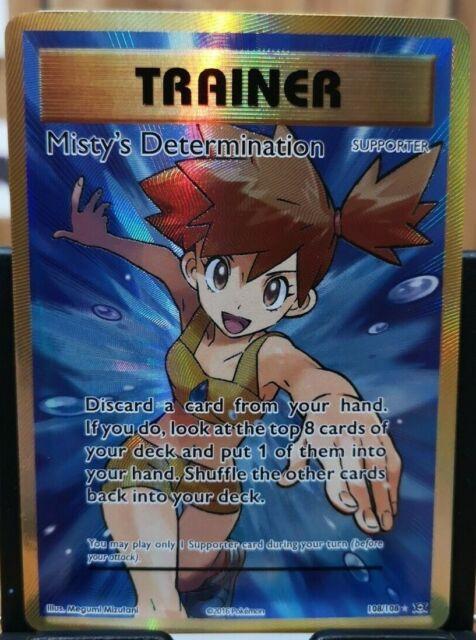 Pokemon Misty's Determination - XY Evolutions 108/108 Full Art Holo Ultra Rare *