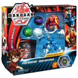 Ventus Krakelios Collectible Transforming Creatures for Ages 6 and Up Bakugan Starter Pack 3-Pack