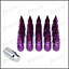 Purple Epman Racing JDM Spike UK Stock Wheel Lug Nuts Lightweight M12 x 1.25