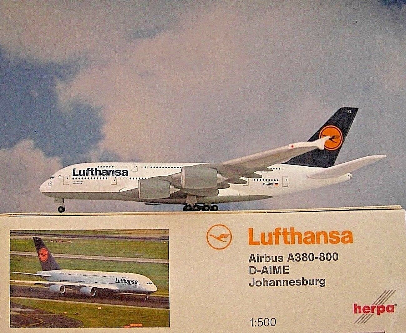 Herpa Wings 1 500 Airbus A380-800 Lufthansa D-Aime 515986-004 Modellairport500