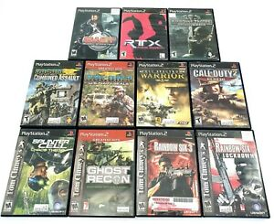 Sony-PlayStation-2-PS2-Games-Lot-of-11-Tom-Clancy-Socom-Call-of-Duty-Tested