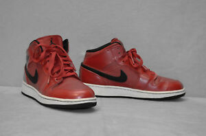 size 40 7e525 720f3 Image is loading A8-NIKE-AIR-JORDAN-1-Mid-Gym-Red-
