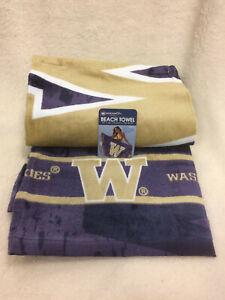 University-Of-Washington-Huskies-Beach-Towel-NEW-nice-30-034-x-60-034-NCAA-Cotton