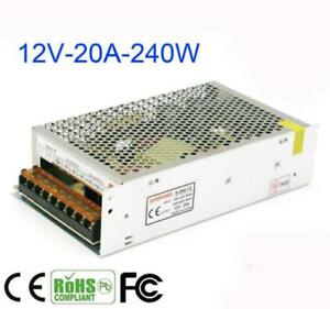 240W 12V 20A Switching Power Supply Adapter For LED Strip Light CCTV Display
