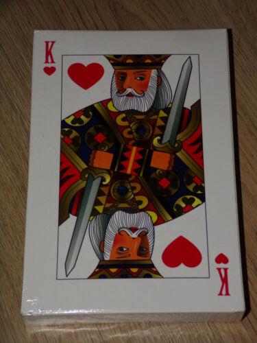 XXL Pokerkarten Jumbo Poker Spielkarten Riesiges Kartenspiel 190 x 125 mm groß