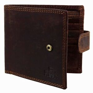 Mens-Oiled-Hunter-Cognac-Leather-Tab-Bi-Fold-RFID-Wallet-Rowallan-of-Scotland