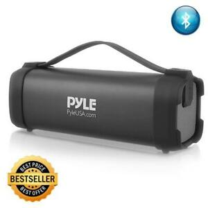 Pyle-Portable-Bluetooth-Wireless-Speaker-Rechargeable-Battery-FM-Radio-USB
