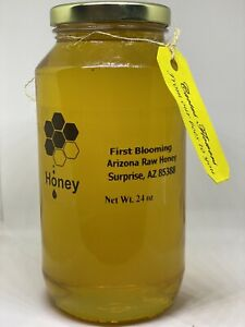 Honey-Pure-Honey-Raw-Honey-Cactus-flowers-Raw-Honey-Arizona-Local-24-oz