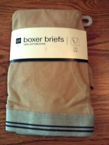 NWT-Gap-mens-boxers-briefs-tan-with-gray-waistband-size-medium