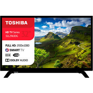 "SMART TV LED TOSHIBA LED 32"" POLLICI FULL HD 1080p INTERNET TV WI-FI DVB-T2"