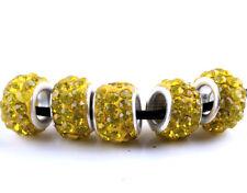 20Pcs SILVER MURANO GLASS BEADS LAMPWORK Fit European Charm Bracelet DIY Jewelry