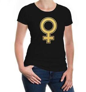 Damen Kurzarm Girlie T-Shirt Venussymbol Geschlecht Liebe Muttertag weiblich