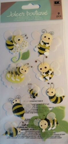 JOLEE/'S BOUTIQUE BUMBLEBEES 3D 9 PC STICKERS SCRAPBOOK CRAFT OUTDOORS INSECTS