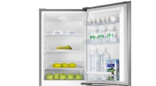 PKM Frigorifero Combinato A 178l ARGENTO frigorifero 50cm in acciaio inox design
