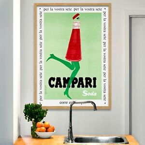 VINTAGE CAMPARI SODA ADVERTISING A3 POSTER PRINT