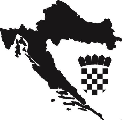 10 x Kroatien Aufkleber Hrvatska mit Wappen Croatia SCHWARZ ZAGREB VRBOVEC SPLIT