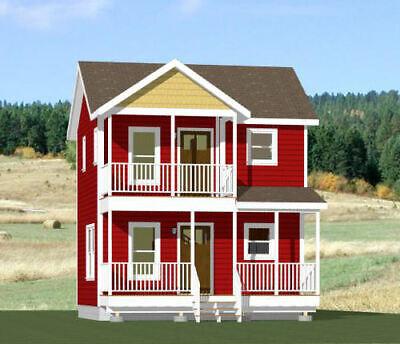 Diplomatisch 20x16 Tiny House -- Pdf Floor Plan -- 544 Sq Ft -- Model 11 Wees Vriendelijk In Gebruik
