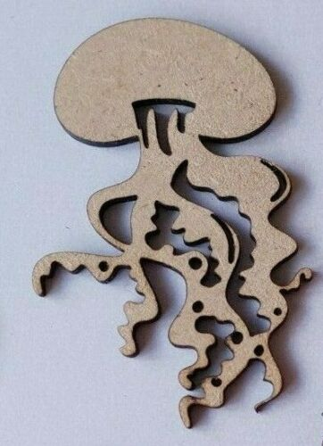 Laser Cut Wood MDF Jellyfish Sea Creatures 50mm to 100mm Craft