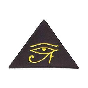 Details about Eye Of Horus Iron On Patch Egyptian Pyramid Illuminati Masons  Third Badge/Appliq
