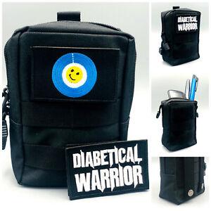 Tasche für Blutzuckermessgerät & Diabetes Zubehör, 2 Klett Patsches, Libre 1 & 2