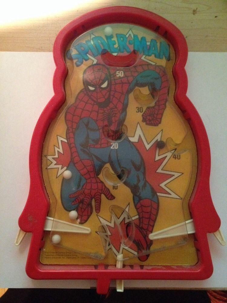 Spiderman Hand Held Pinball 1976 Hasbro