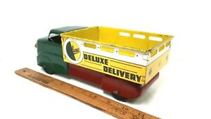 1950-039-s-MARX-Deluxe-Delivery-Truck-Very-Good-Original-Condition