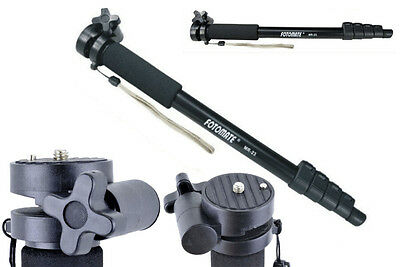 5 Sections Portability Flexibility Adjustable Monopod For Camera Walking Stick