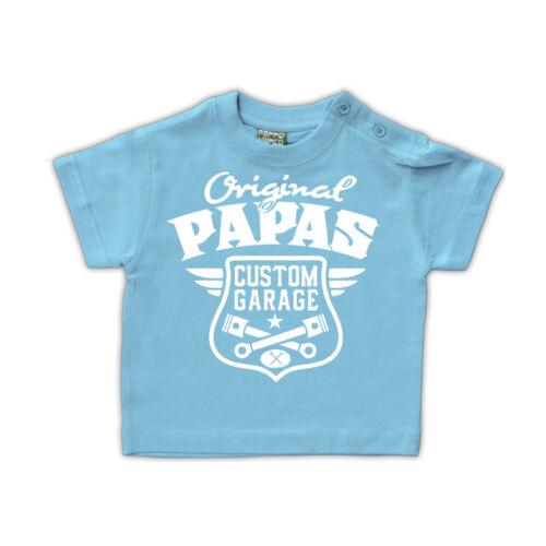 Baby Kinder T-Shirt T-Shirt Original Papas Garage Geschenk Auto Tuning KFZ Größe