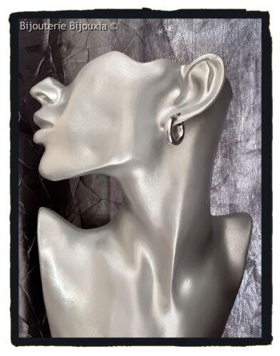 Ohrringe Creolen Dicke 2cm 925 Sterling Silber 000 Rhodium Schmuck