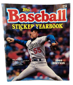 1989-Topps-Baseball-Sticker-Yearbook-Empty-Album-Orel-Hershiser-No-Stickers