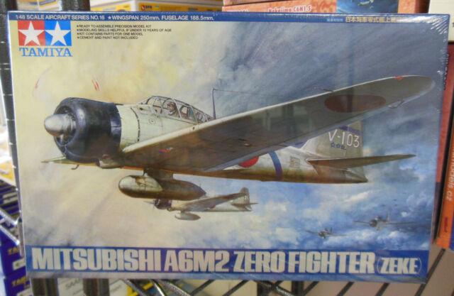Tamiya 1/48 Mitsubishi A6M2 Zero (Zeke) Fighter #61016