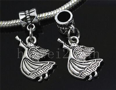 6/30/100pcs Antique Silver Dancing girl Bulk Lots Dangle European Charm Bracelet