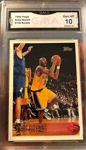 Hot-1996-Topps-Rookie-Kobe-Bryant-138-Gem-Mint-10-Graded-LA-Lakers-RC