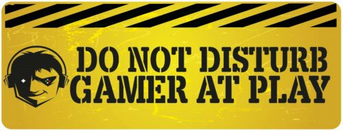 Do Not Disturb Gamer At Work Sign Metal Plaque Gifts 20x15cm