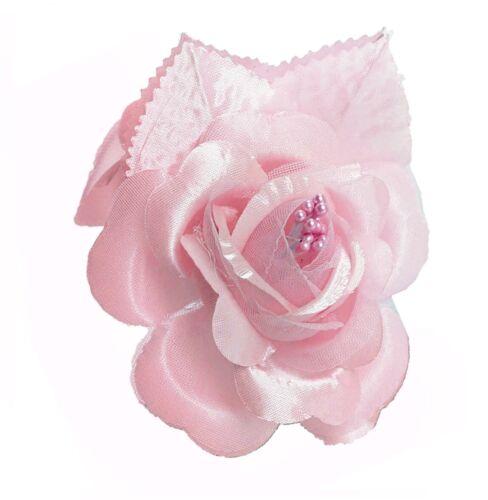 Pink 12 Silk Roses Wedding Favor Flower Corsage Pick