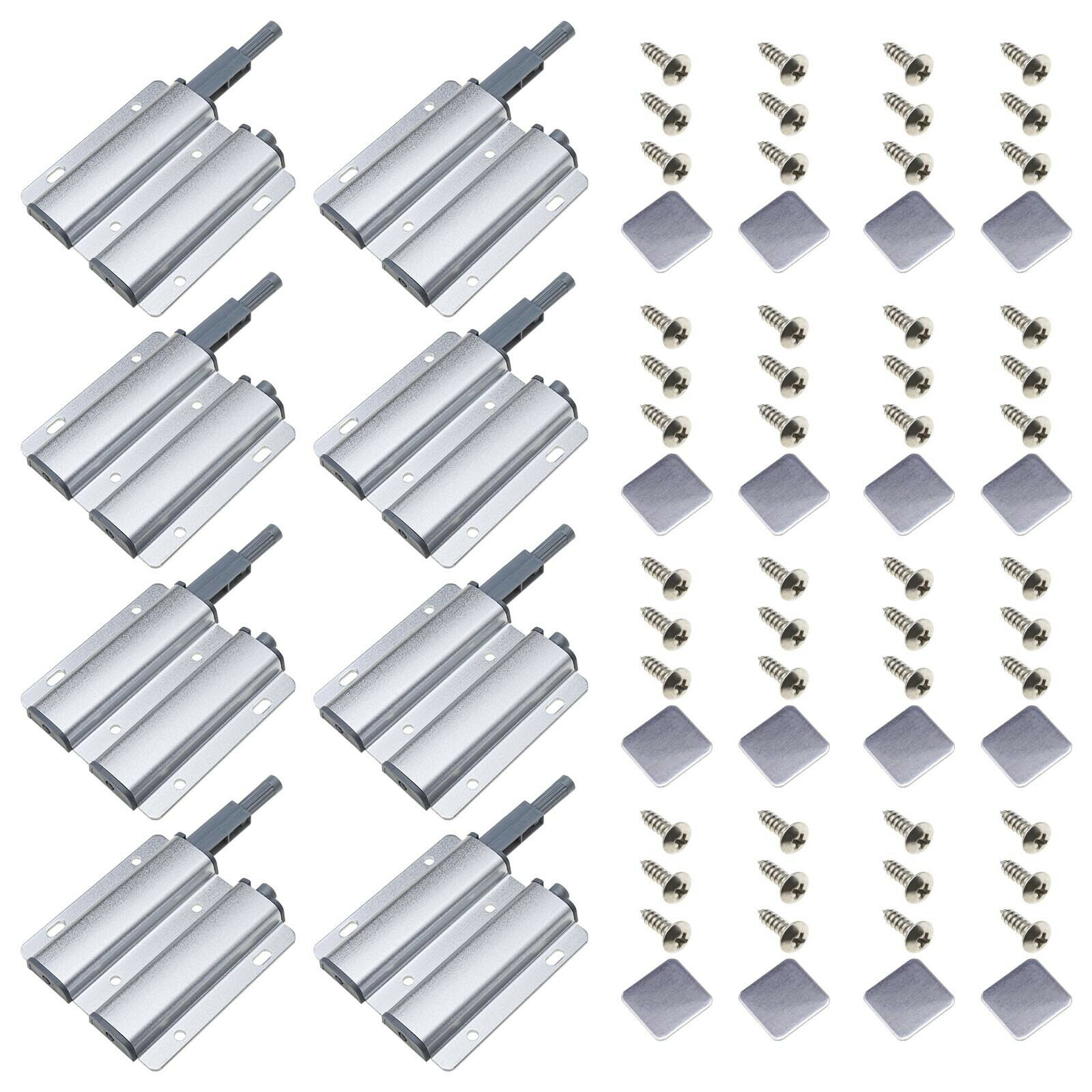 8 set doble cabeza-magnetschiebeverschlüsse para armarios cajones amortiguadores de búfer