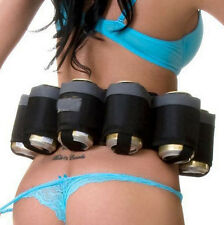 Nylon SIX Pack Beer Holster Holds Belt Soda 6 Pop Cans Outdoor Cutlery Redneck