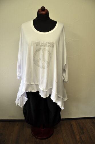 shirt XXXL onda legamento Zipfel Stratificazione tunica ° bianca XXL ° ° ° strass ° dichiarazione ° InfqU