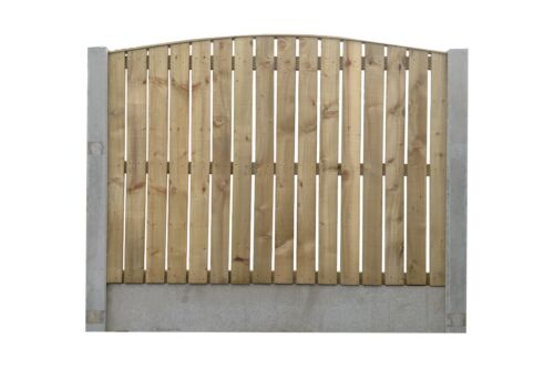 £17.50 Heavy Duty Fence Panel Flat Single Sided Paling Bow /& Concave Top