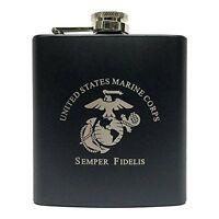 Marine Corps Flask-matte Black, New, Free Shipping