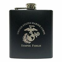 Marine Corps Flask-matte Black, New, Free Shipping on Sale
