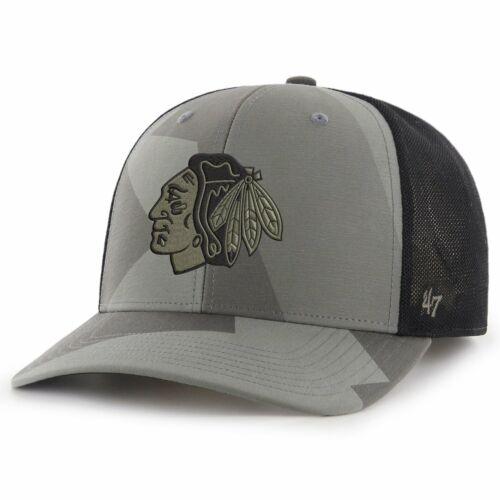 47 Brand Mesh Snapback Cap COUNTER Chicago Blackhawks camo