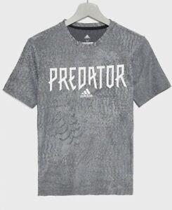 Adidas Junior Boys T Shirt Top Grey Predator DV1350