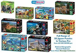Image Is Loading SUPER 3D JIGSAW PUZZLES NATIONAL GEOGRAPHIC KIDS EDUCATIONAL