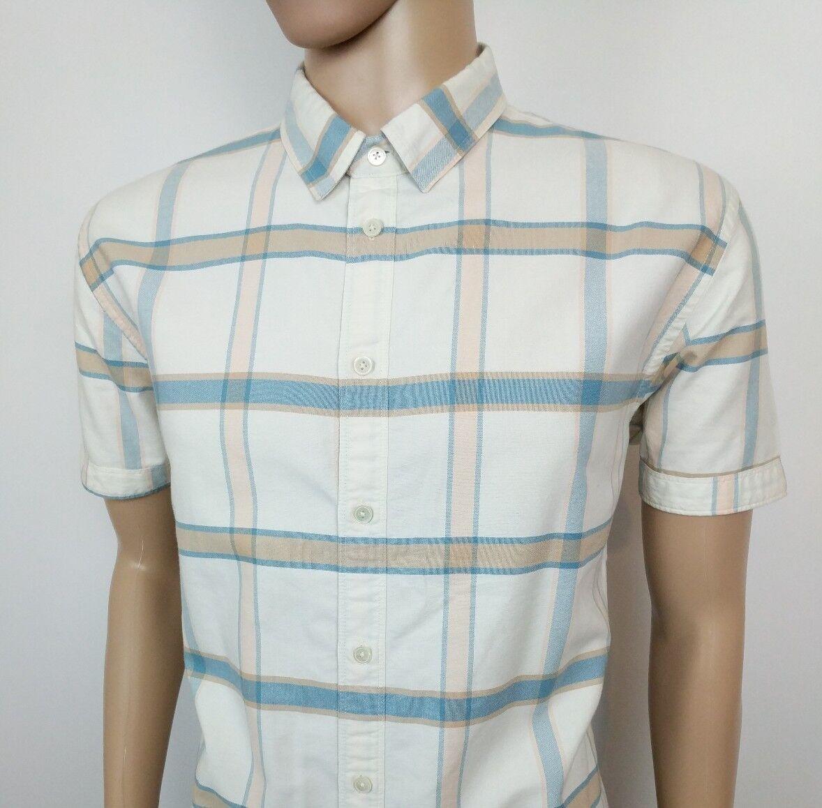 Paul Smith Da Uomo Camicia Tailored Fit Check Bianco Taglia XXL PSJ circonferenza petto 46 NUOVO